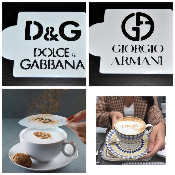 Other - Stencils Dolce Gabbana and Armani Coffee DIY Craft